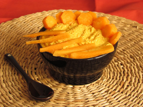 Salsa di carote e tofu