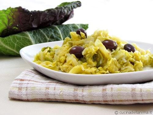 Verze e patate, con olive