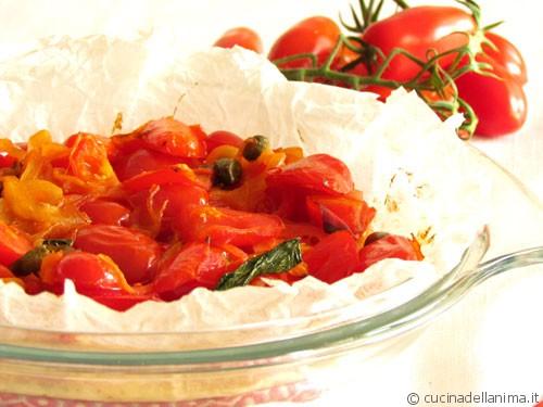 Pizza di albumi ai pomodorini