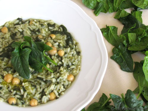 Risotto di spinaci e ceci