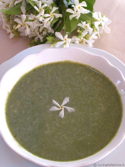 Zuppa di biete e fiocchi di avena