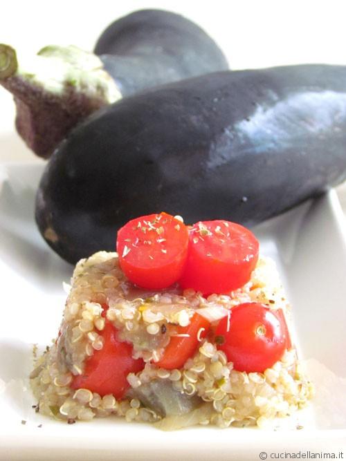 Tortino di quinoa e melanzane