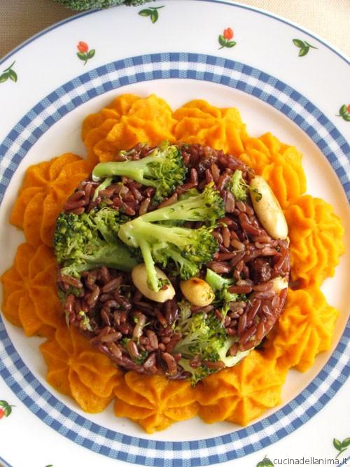 Riso selvaggio, broccoli…e crema di carote