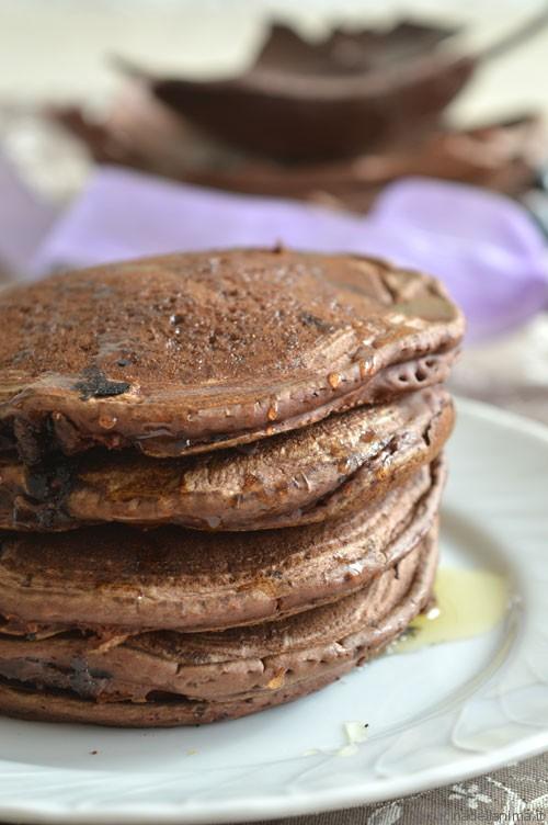 Pancake con farina di castagne e cioccolato