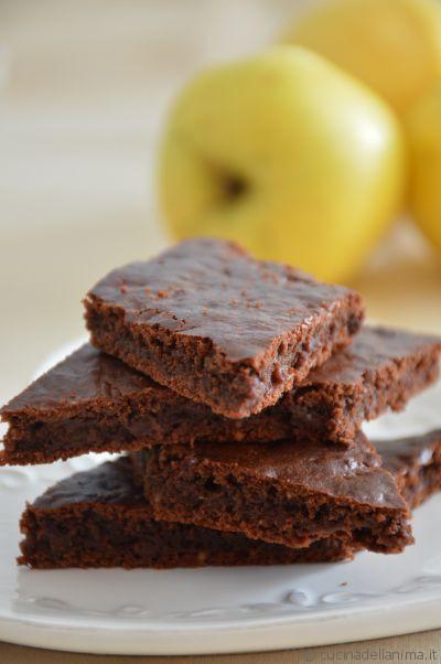 Brownies mele e cioccolato