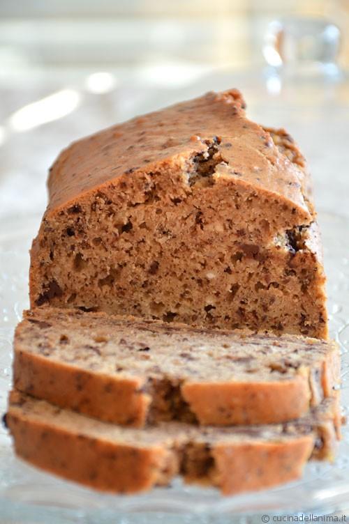 Plum cake mandorle e cioccolato