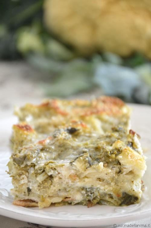 Pasticcio di pane carasau e broccolo di Bassano