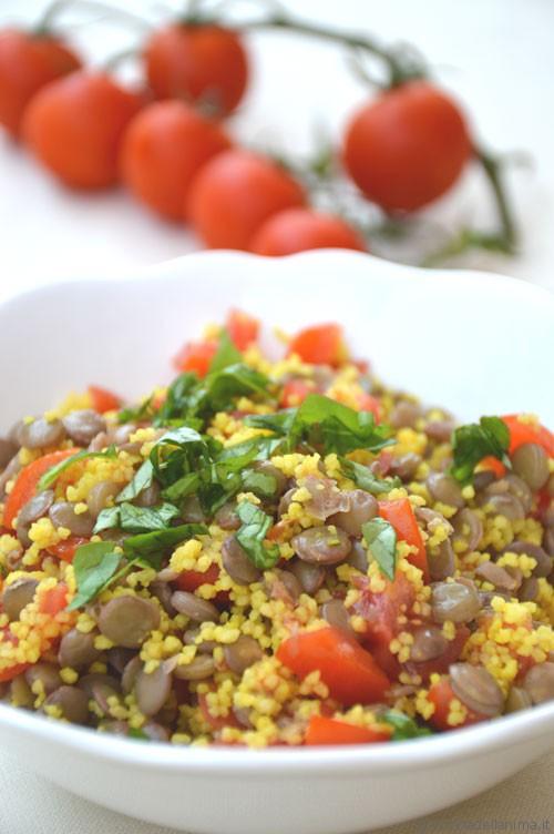 Insalata di lenticchie e cous cous