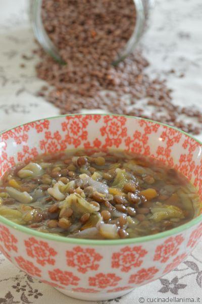 Zuppa di verze e lenticchie