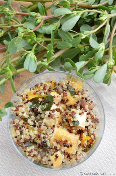 Quinoa con peperoni e portulaca #glutenfree