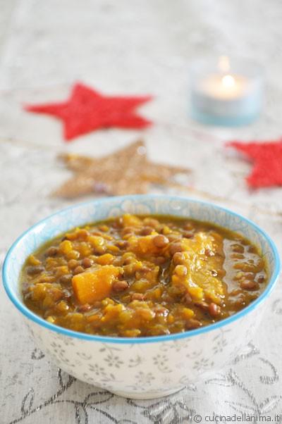 Zuppa depurativa: lenticchie e zucca