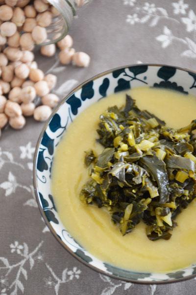 Crema di ceci con broccolo fiolaro